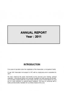 ANNUAL REPORT Year : 2011