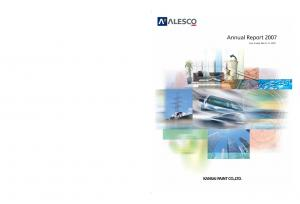 Annual Report Year Ended March 31, 2007