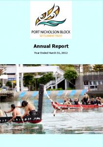 Annual Report Year Ended March 31, 2012