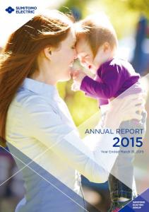 ANNUAL REPORT. Year Ended March 31, 2015