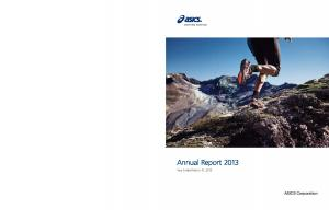 Annual Report Year Ended March 31, ASICS Corporation