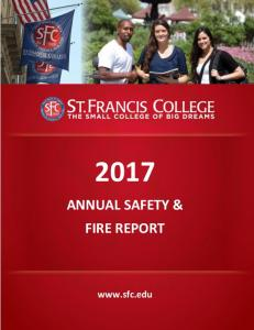 ANNUAL SAFETY & FIRE REPORT