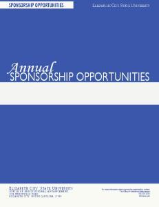 Annual SPONSORSHIP OPPORTUNITIES SPONSORSHIP OPPORTUNITIES