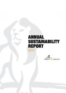 ANNUAL SUSTAINABILITY REPORT 2013