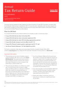Annual Tax Return Guide