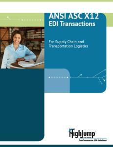 ANSI ASC X12 EDI Transactions
