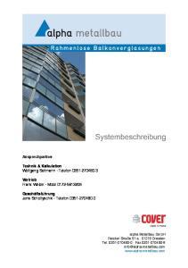 Ansprechpartner. Technik & Kalkulation Wolfgang Seltmann Telefon Vertrieb Frank Weber Mobil