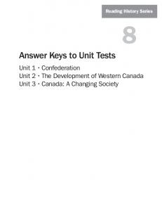 Answer Keys to Unit Tests