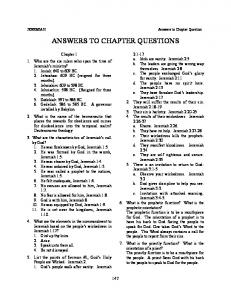 ANSWERS TO CHAPTER QUESTIONS