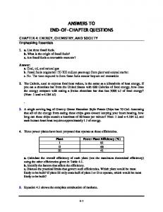 ANSWERS TO END-OF-CHAPTER QUESTIONS