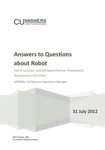 Answers to Questions about Robot