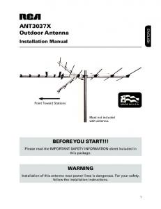 ANT3037X Outdoor Antenna