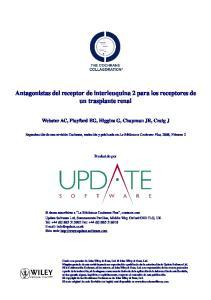 Antagonistas del receptor de interleuquina 2 para los receptores de un trasplante renal