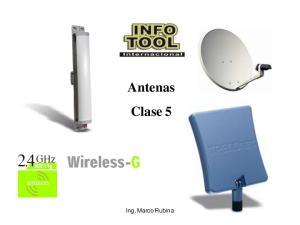 Antenas Clase 5. Ing. Marco Rubina