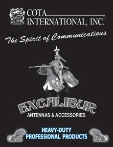 ANTENNAS & ACCESSORIES HEAVY-DUTY PROFESSIONAL PRODUCTS