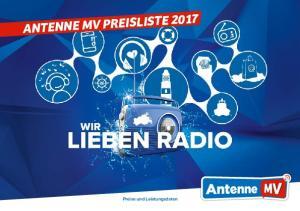 ANTENNE MV PREISLISTE Preise und Leistungsdaten