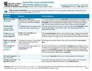 Anthem Blue Cross and Blue Shield EPO 90 Plan (Network Only)
