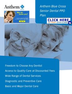 Anthem Blue Cross Senior Dental PPO Plan