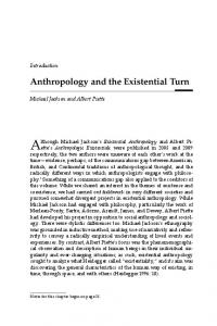 Anthropology and the Existential Turn