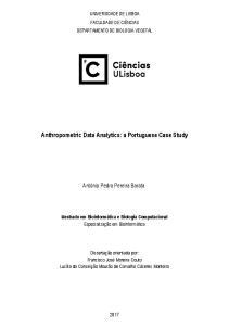 Anthropometric Data Analytics: a Portuguese Case Study