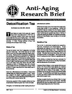 Anti-Aging Research Brief