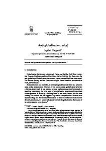 Anti-globalization: why?