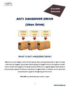 ANTI HANGOVER DRINK. (Ukon Drink)