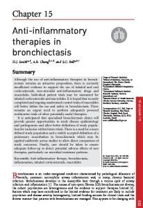 Anti-inflammatory therapies in bronchiectasis