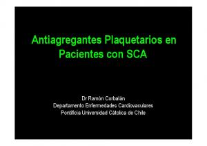 Antiagregantes Plaquetarios en Pacientes con SCA