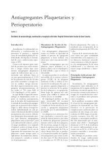 Antiagregantes Plaquetarios y Perioperatorio