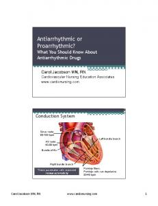 Antiarrhythmic or Proarrhythmic? What You Should Know About Antiarrhythmic Drugs