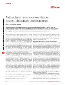 Antibacterial resistance worldwide: causes, challenges and responses