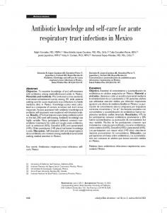 Antibiotic knowledge and self-care for acute respiratory tract infections in Mexico