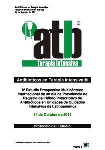 Antibioticos en Terapia Intensiva
