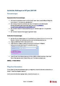 Antibiotika-Meldungen an HIT gem. 58 TAM