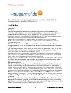 Antibiotika powered by Pausenhof.de