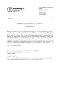 Antibiotikatherapie: Wirkung und Resistenz