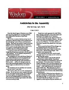 Antichrists in the Assembly