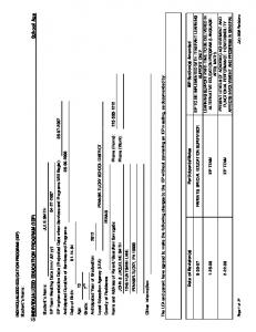 Anticipated Duration of Services and Programs: Anticipated Year of Graduation: 2012