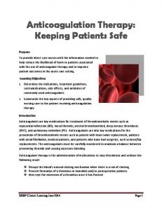 Anticoagulation Therapy: Keeping Patients Safe