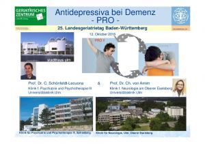 Antidepressiva bei Demenz - PRO -