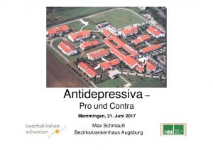 Antidepressiva Pro und Contra