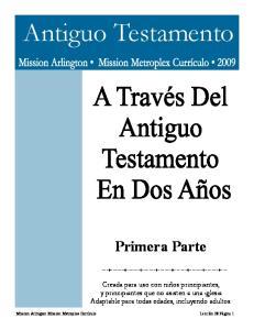 Antiguo Testamento. Primera Parte