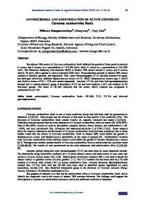 ANTIMICROBIAL AND IDENTIFICATION OF ACTIVE COMPOUND Curcuma xanthorrhiza Roxb
