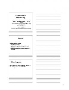 Antimicrobial Prescribing