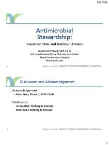 Antimicrobial Stewardship: