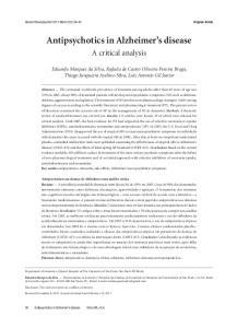 Antipsychotics in Alzheimer s disease