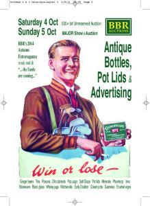 Antique Bottles, Pot Lids & Advertising