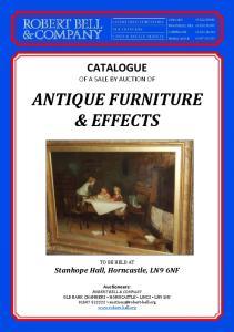 ANTIQUE FURNITURE & EFFECTS