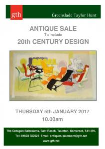 ANTIQUE SALE To include. 20th CENTURY DESIGN